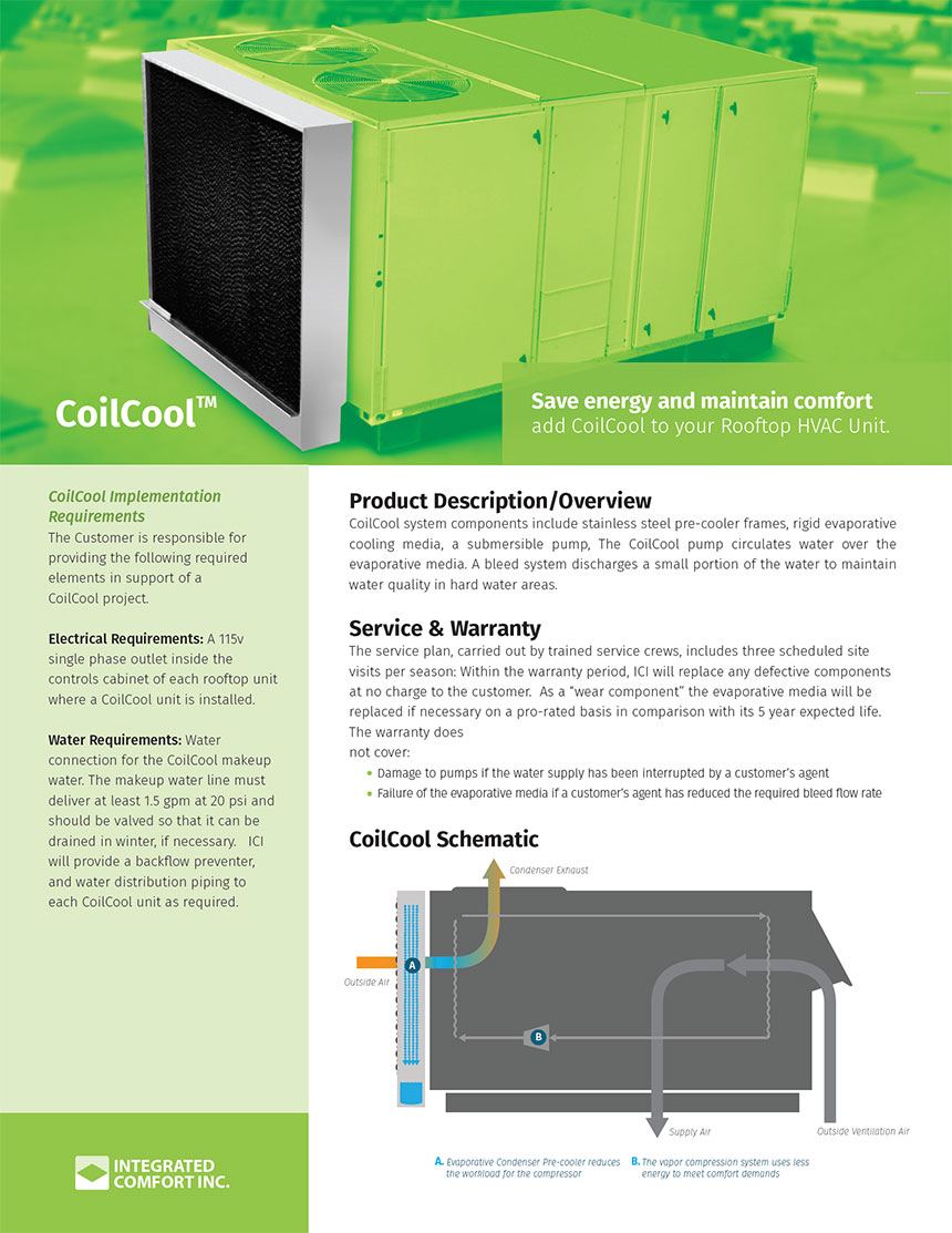 CoilCool™ Spec Sheet front