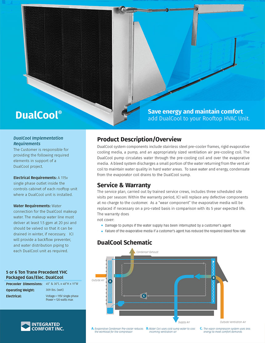 DualCool® Spec Sheet front